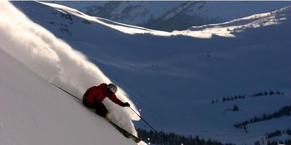 ski resort snowfall